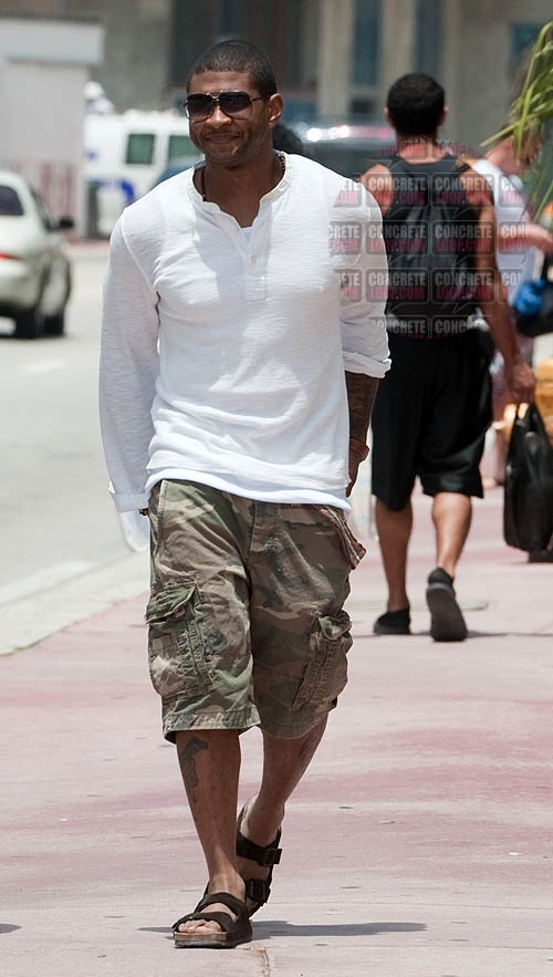 Usher has a confession - he loves his Birkenstocks! http ... Birkenstock Men Fashion