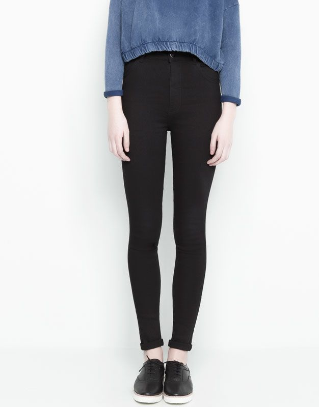 :HIGH RISE SKINNY FIT JEANS