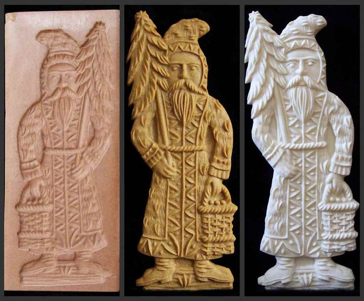 German christmas cookie mold chip carving butter and