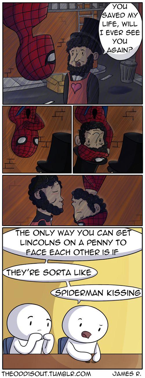 theoddisout.tumblr.com #Lincoln #Spiderman