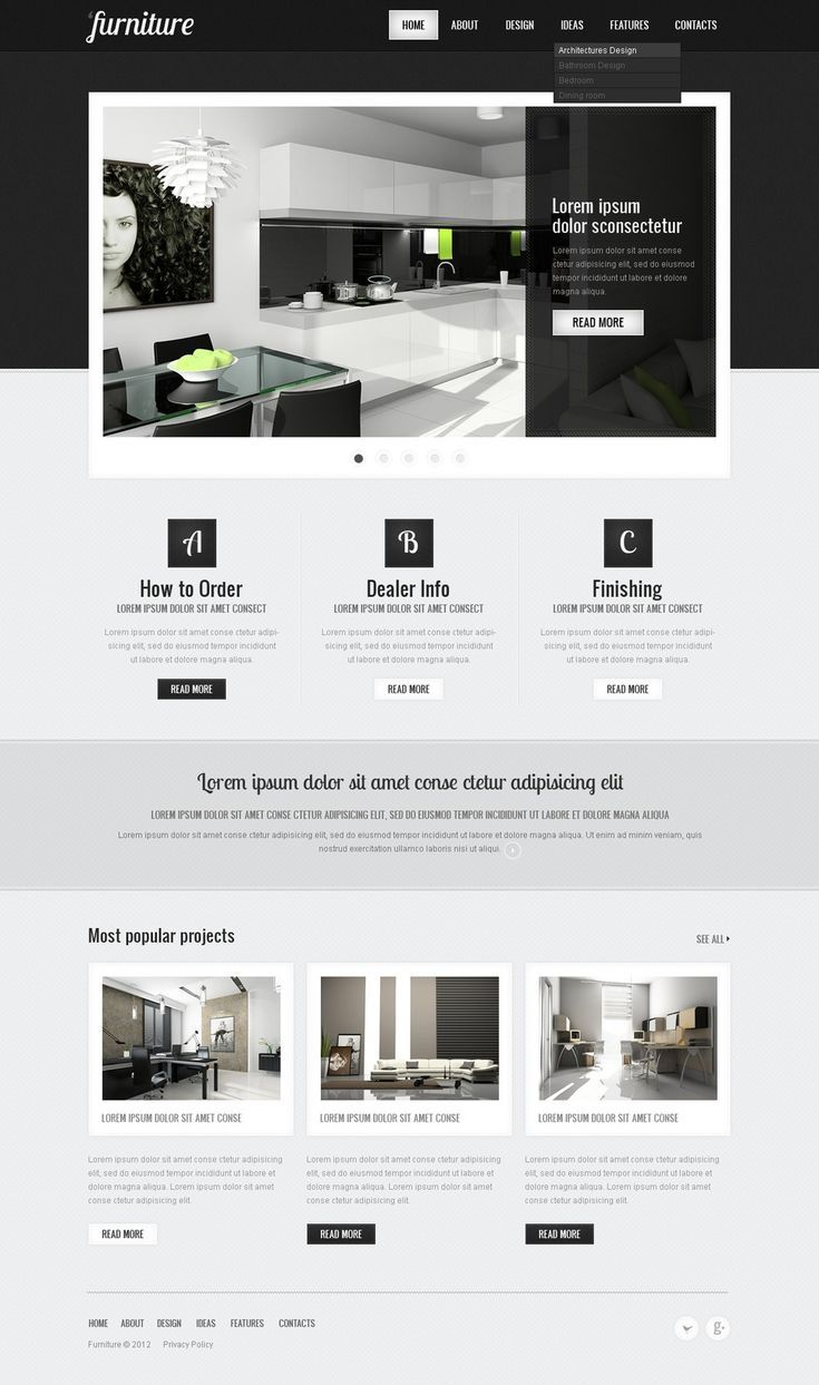 website vorlage für möbel | web tasarım, tasarım