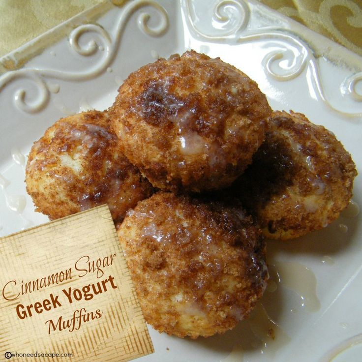 Cinnamon Sugar Greek Yogurt Muffins are the perfect weekend brunch addition. Also great for snacking or dessert, tender and delicious.