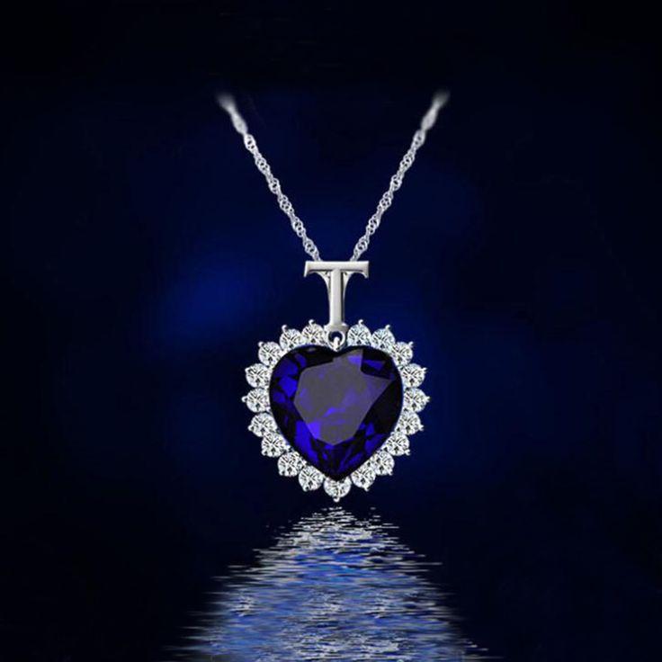 Titanic cuore dell'oceano collana Di Cristallo argentato ciondolo Collane & Pendenti collane