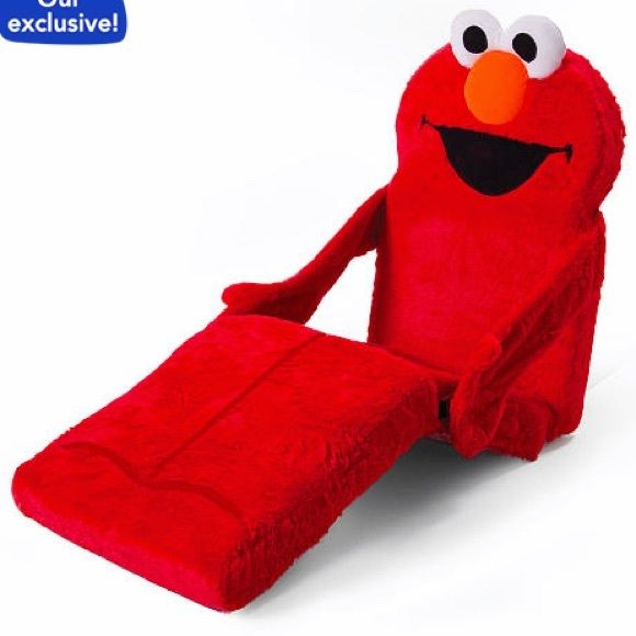 BRAND NEW SESAME STREE 3-IN-1 ELMO CHAIR -EASILY TRANSFORMS FROM CHAIR INTO A LOUNGER AND INTO A BED  -WHETHER READING, LOUNGING OR TAKING A NAP  -MADE FROM SOFT PLUSH MATERIALS, THE 3-IN-1 ELMO CHAIR ALSO HAS AN EASILY REMOVABLE & WASHABLE SLIPCOVER TO MAKING CLEANING A BREEZE  -IT ALSO QUICKLY FOLDS UP FOR EASY STORAGE  -BATTERIES NOT REQUIRED  -THE MARSHMALLOW 3-IN-1 ELMO CHAIR IS MADE FOR KIDS AGES 18+ MONTHS      ⭐RATED SELLER  FAST SHIPPER NEXT DAY SHIPPING  ❌NO TRADE ❌NO PAYPAL…