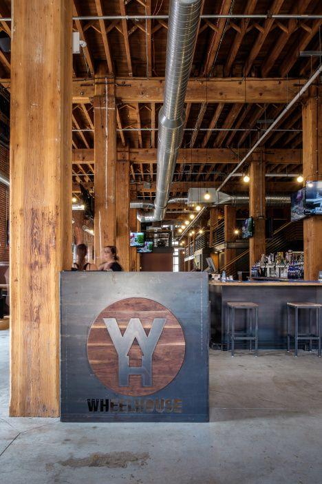 Hostess stand at Wheelhouse Downtown, St. Louis MO. #steel #wood #fabricate