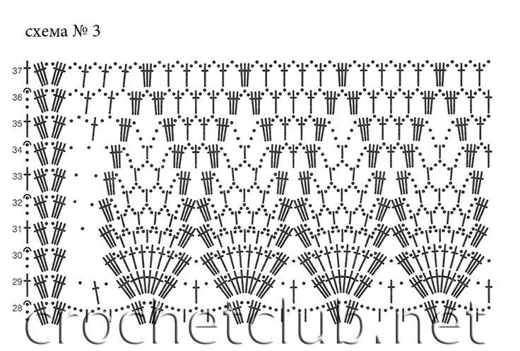 Белая ажурная шаль - Вязание Крючком. Блог Настика. Схемы, узоры, уроки бесплатно: Knitting Scheme, Shawl Ponchos Wrap Shrug, Crochet Miscelaneous