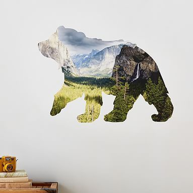 Photo Real Mountain Bear Wall Decal #pbteen