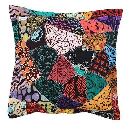 Bring some colour to your day! Pair of 2 Java Batik Patchwork Cushion Covers, Large 60 x 60cm #Multicoloured #Batik #Handmade #Bali #Ethicallytraded #Ebay #Colour