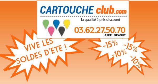 Soldes d'été chez CartoucheClub - Jusqu'à 15% de remise