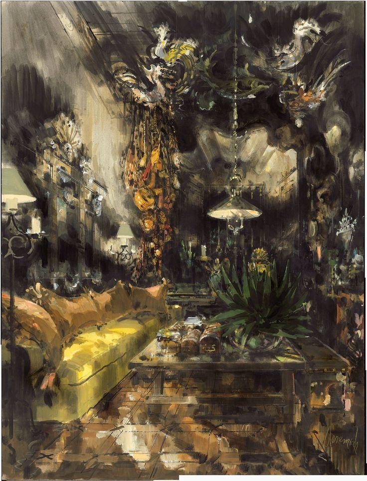 Edith Head, Living Room, Los Angeles, 1976. Эдит Хед, гостиная, Лос-Анджелес, 1976. 伊迪丝头,客厅,洛杉矶,1976年。