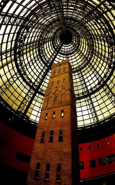 Shot tower in Melbourne Central Arcade, Victoria Australia