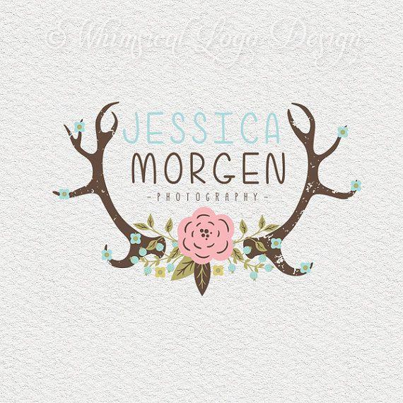 logo design and watermark custom premade logo antler logo antlers ...
