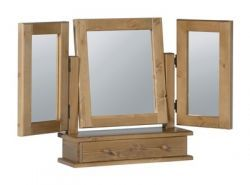 Badger Pine Triple Mirror with Drawer http://solidwoodfurniture.co/product-details-pine-furnitures-451-badger-pine-triple-mirror-with-drawer.html