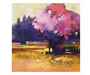Stampa fine art su canvas con telaio in legno Blossom - 50x50x4 cm