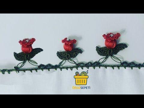 NAR ÇİÇEĞI OYASI ANLATIMLI YAPIMI | easy knitting patterns - YouTube