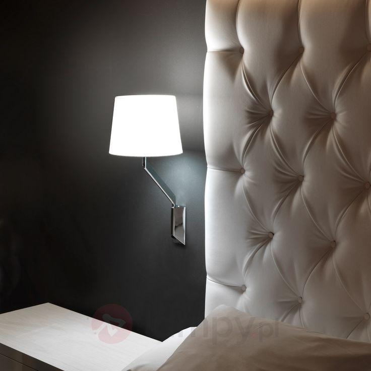 Ponadczasowa materiałowa lampa ścienna New Hotels 6026537