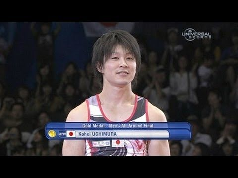 [2011, Tokyo, Japan, FIG Gymnastics World Championship]. Kohei Uchimura (JPN) is the first man in history to win the all around world championship three times in a row