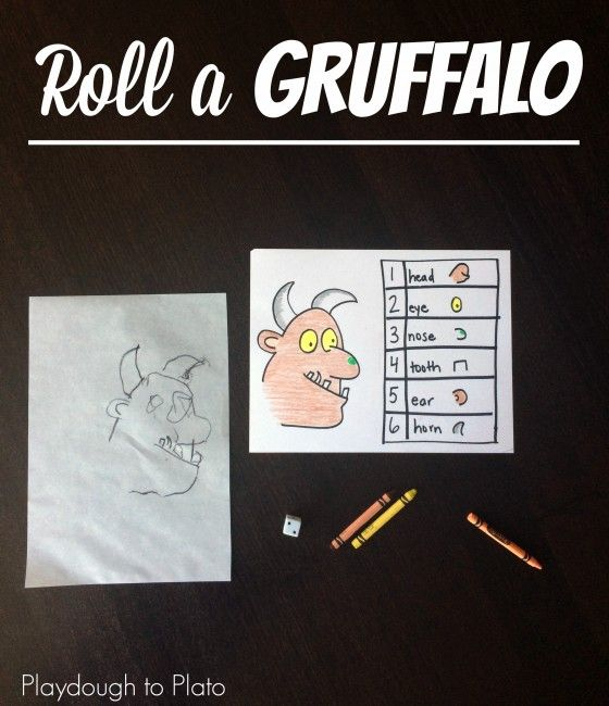 Roll a Gruffalo Math Game for Kids. Awesome follow up to Julia Donaldson's popular children's story.