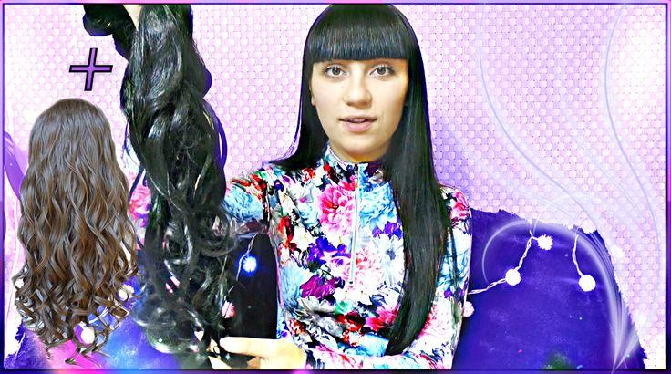 Как крепить волосы на заколках ♡ Накладные пряди трессы ♡ Glam Time #Hai...