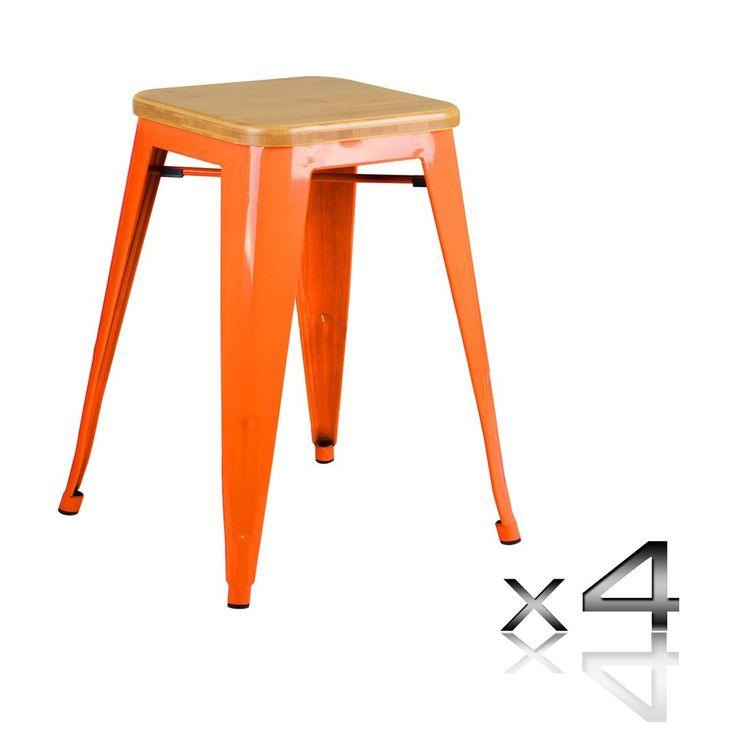 Replica Tolix Bar Stools | Set of 4 | 46cm designed by Xavier Pauchard