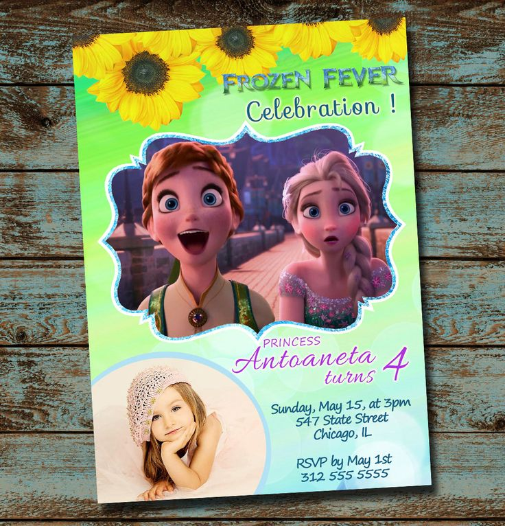 70 best Frozen Fever 4th birthday party images on Pinterest - best of invitation for 1st birthday party free