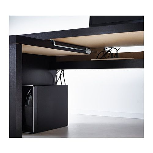 MALM Desk with pull-out panel IKEA The pull-out panel gives you an extra work surface.