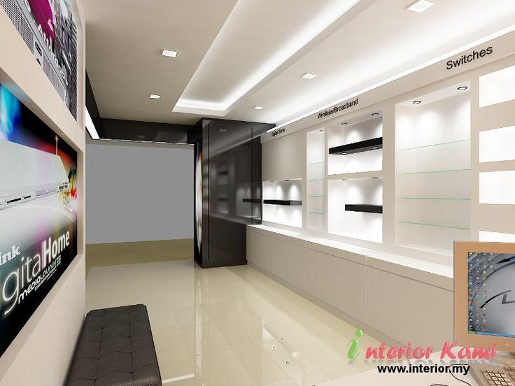 Computer Shop Display Cabinet Dise O Interior De
