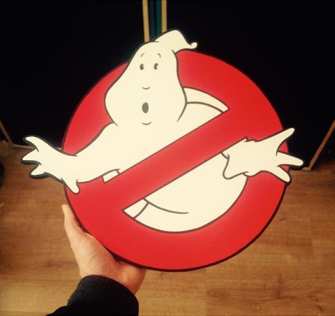 Ghostbusters wooden plaque