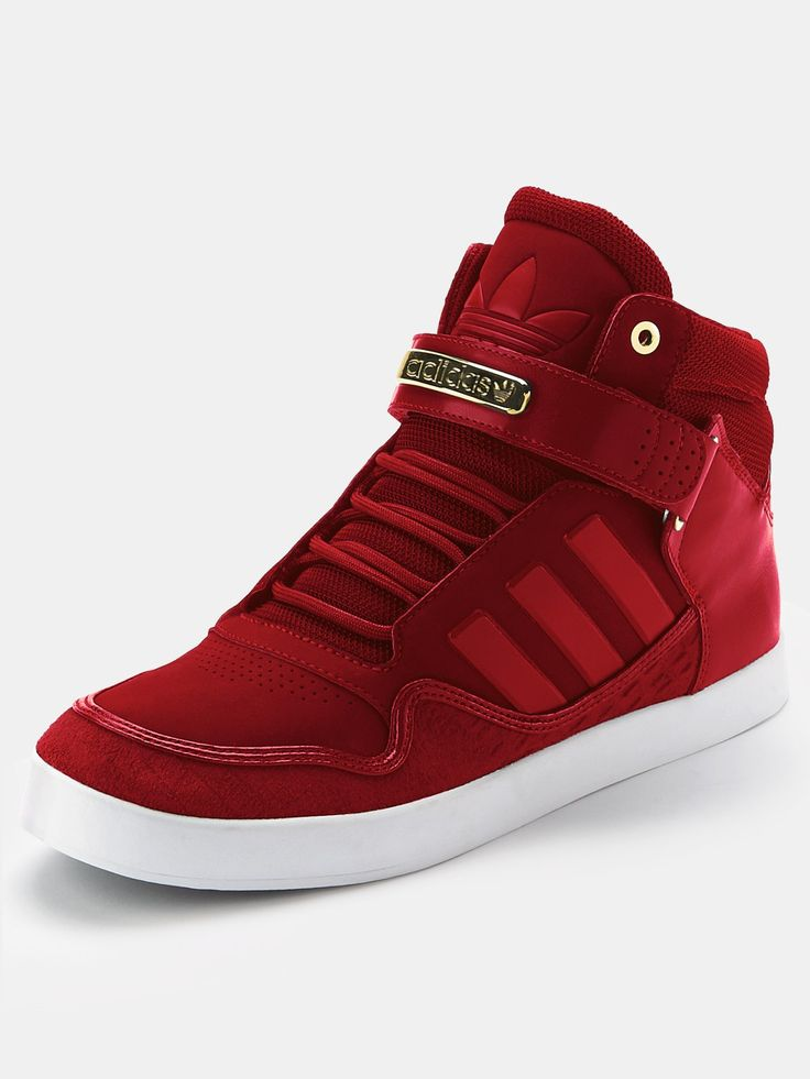 adidas red shoes mens