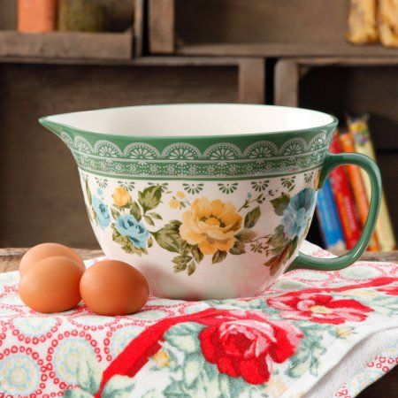 The Pioneer Woman Rose Shadow 2.83-Quart Batter Bowl - Walmart.com