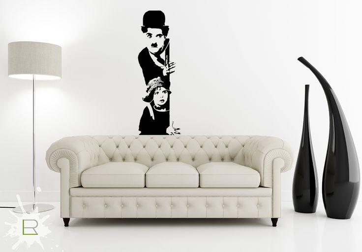 Naklejka Charlie Chaplin