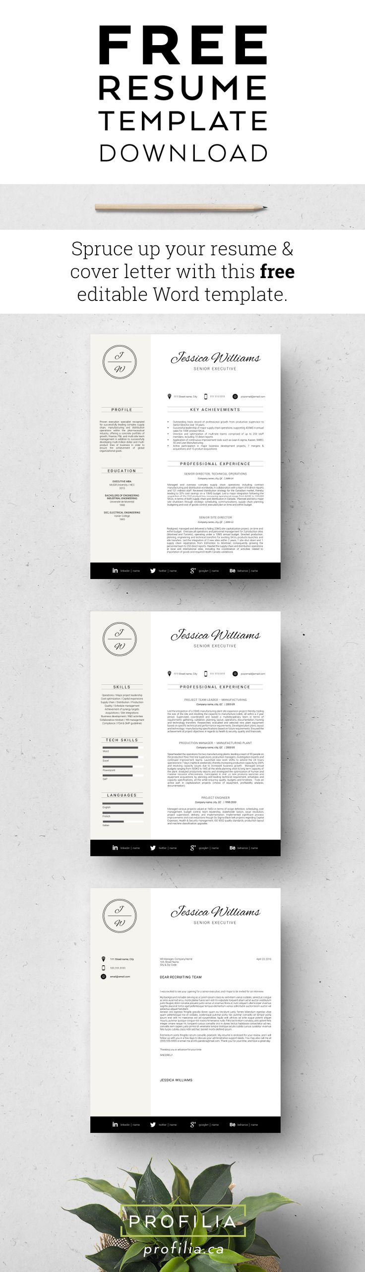 Free Resume Template   Refresh Your Job Search With This Free Resume U0026 Cover U2026  Free Resume And Cover Letter Templates