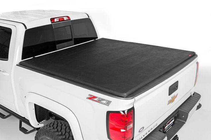 Rough Country's Tri-Fold Vinyl Tonneau Cover gives you a practical way to protect your truck bed with a sleek look that installs in seconds.