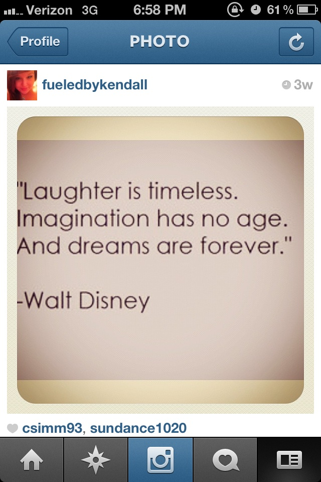 Walt Disney Senior quotes :) Love this one :D