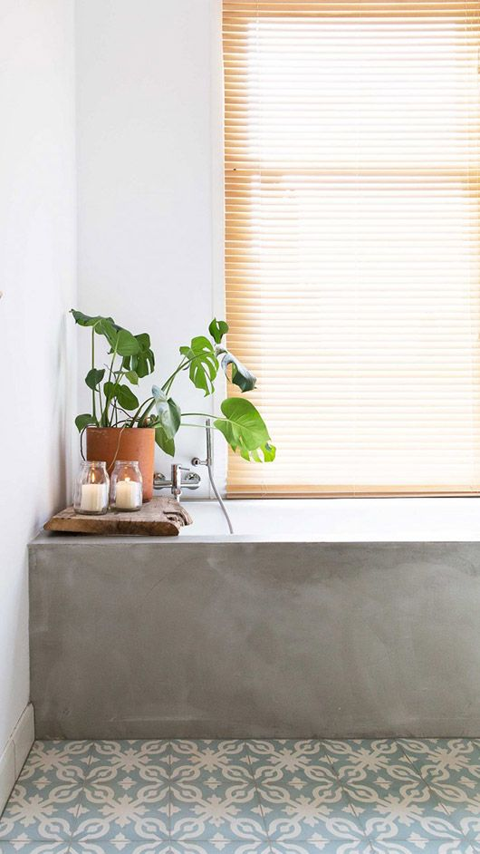 green potted plant and tan shade via vtwonen. / sfgirlbybay