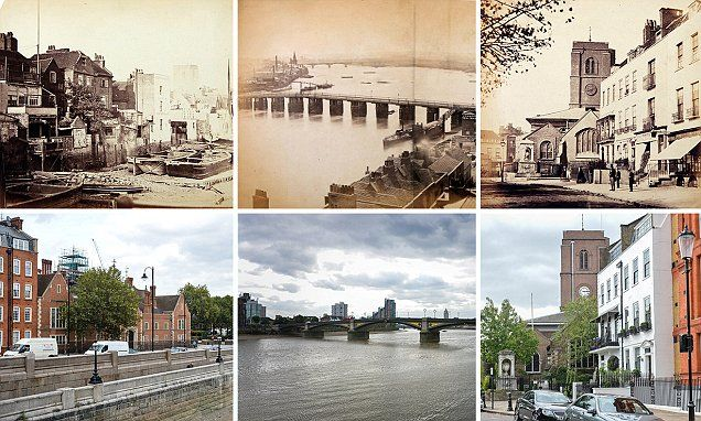 Lost London: Trove of some of the earliest photos ever taken show how Thames has changed in 150 years