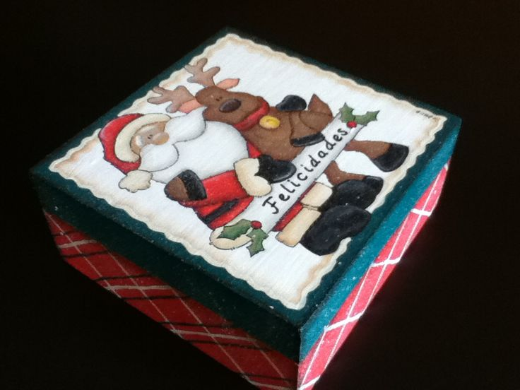 Caja mediana #Santa #Navidad #Christmas #Reno #Rudolph
