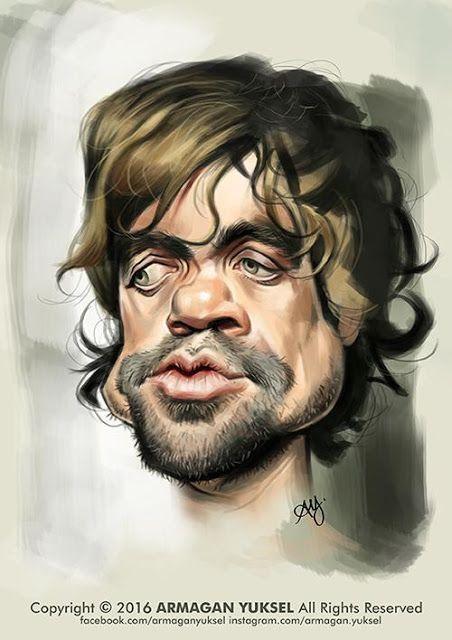 Caricatura del actor de Juego de Tronos, Peter Dinklage, realizada por el artista Armagan Yuksel. ...