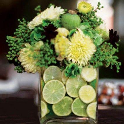 Cool idea for a centerpiece - #weddings #flowers #centerpiece