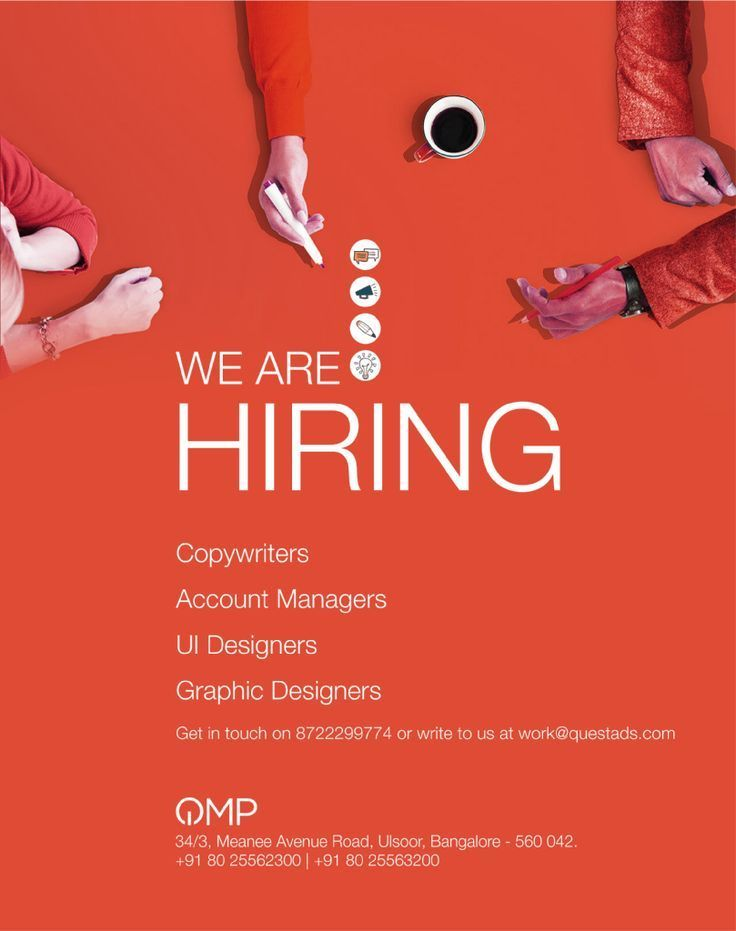 Three Kinds Of Job Advertisements We Want To See From Employers Advertising Job Ideas O Recruitment Poster Design Graphic Design Advertising Hiring Poster