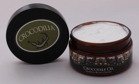 Crocodilia's skin repair Crocodile Oil cream. Available in Unscented Crocodile Oil, Pink Grapefruit, Lemon Myrtle, Peru Balsam (a cinnamon like scent) & Bluegum Eucalyptus, Black Orchid & Pomelo ( a citrus scent). www.crocodilia.com.au