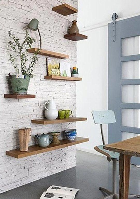 6 Amazing Ideas Can Change Your Life: Glass Floating Shelves Small Kitchens floa…  – Home Walls