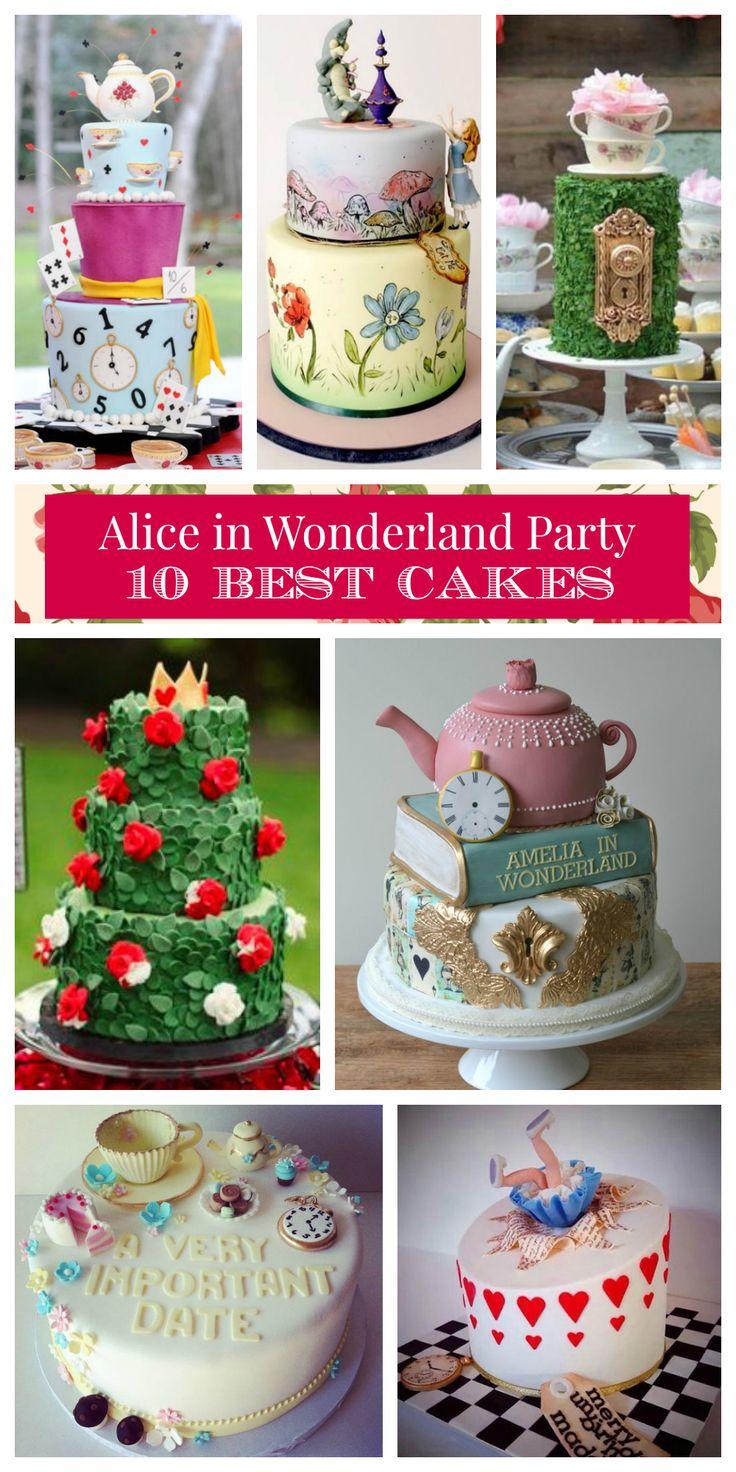 Alice in Wonderland Party Cake Recipe Best 10 Ideas Easy Simple Professional Cakes Wonderland