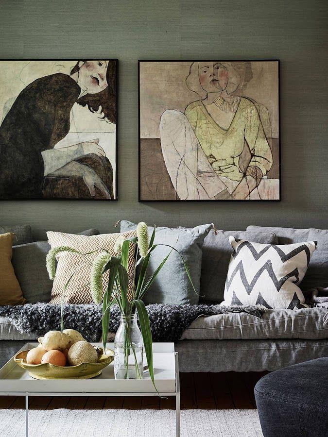 [Interior] Eclecticismo nórdico vintage en un apartamento otoñal