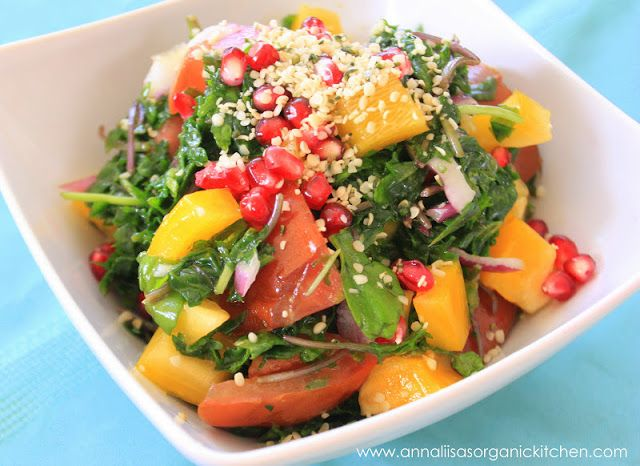 Kale Lovin Salad with Hemp and Pomegranate