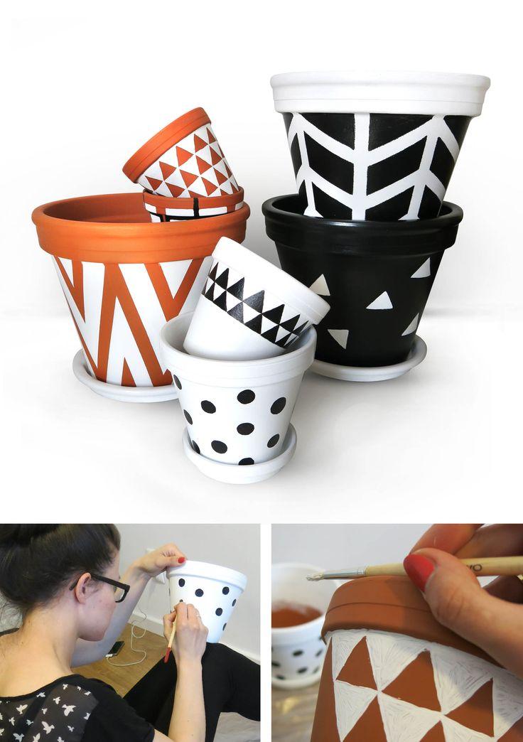 Hand-painted ceramic pot, I love it :)