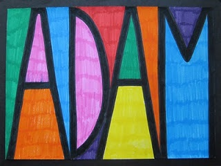 Help kids learn to write their name with this! Bold name art