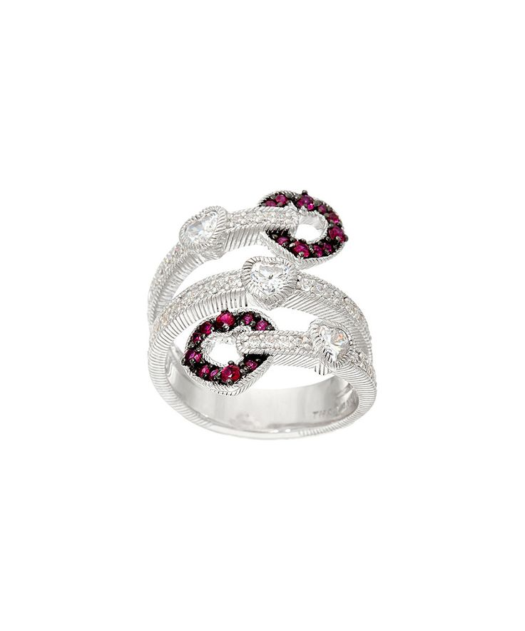 Another great find on #zulily! Ruby & Diamonique® Simulated Diamond Heart Wrap Ring by Judith Ripka #zulilyfinds