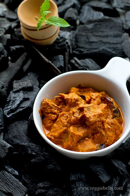 Smoked aubergine curry