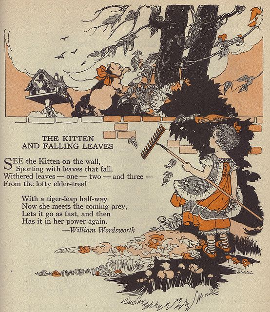 William Wordsworth Poems The kitten and the falling leaves | The kitten and falling leaves Illustrated by Helen Chamberlin | Flickr ...
